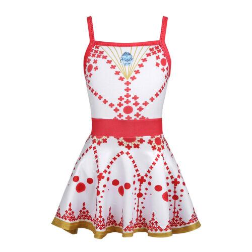 Kids Girls Swim Dress Leotard Swimwear Swimsuit Ballerina Fancy Swimming Costume