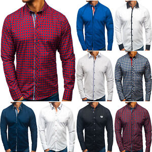 Freizeithemd Kurzarmhemd Herrenhemd Classic Herren Mix BOLF 2B2 Casual WOW