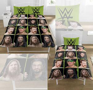 WWE-034-Superstars-039-De-Couette-Couette-Lit-Simple-Double-Set-Rotary-Tout-Neuf-Cadeau