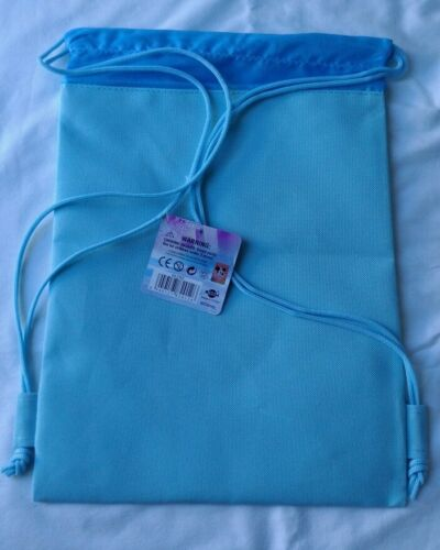 Light Blue Disney Frozen Elsa Drawstring Backpack Child School Sling Gym Bag