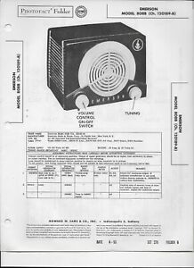 EMERSON 810B RADIO PHOTOFACT