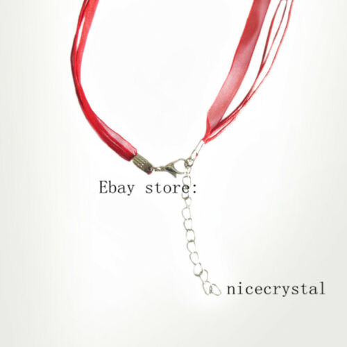 "50pcs 60cm length Multi-color Organza Silk Ribbon Waxen Cord Necklaces 24/"""