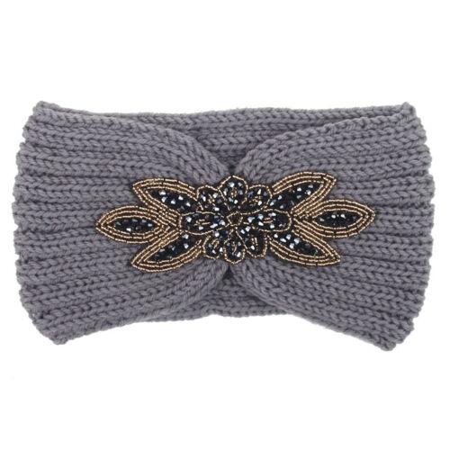 Damen Strick Stirnband Ohrwärmer Winter Herbst Kopfband Haarband gehäkelt