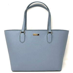 NWT-Kate-Spade-Medium-Dally-Cloudcover-Blue-Saffiano-Leather-Handbag-Laurel-Way