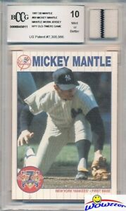 1997-Scoreboard-69-Mickey-Mantle-YANKEES-WORN-JERSEY-Beckett-10-MINT-GGUM