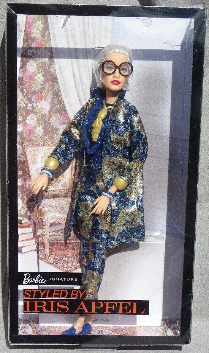 Barbie IRIS APFEL 2018 Mattel FWJ28 designer style poupee boite neuve doll NRFB