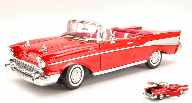 Chevy Bel Air 1957 rosso 1 18 modello MOTORMAX