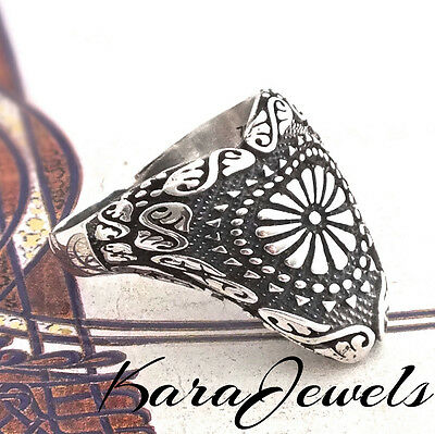 Thumb Ring 925 Sterling Silver Archers Ring Unique Turkish Jewelry Zihgir
