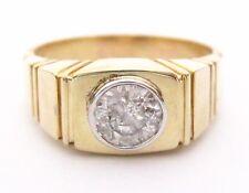 Fine Handmade .91 Ct Men's Round Brilliant Cut Diamond Ring Size 10 G SI2 14k