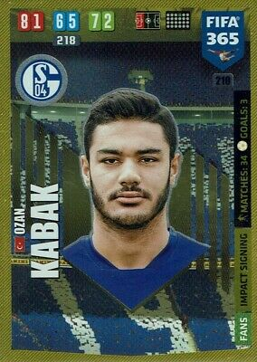 Jonjoe Kenny Schalke impact Signature No.212 PANINI FIFA 365 ADRENALYN XL 2020