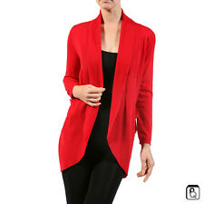 New Women's Dolman Cardigan Open Cocoon Sweater with Side Pockets S,M,L