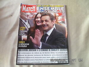 Paris Match N 3275 23 Fevrier 2012 Carla Et Nicolas Sarkozy Laura Smet A4 Ebay