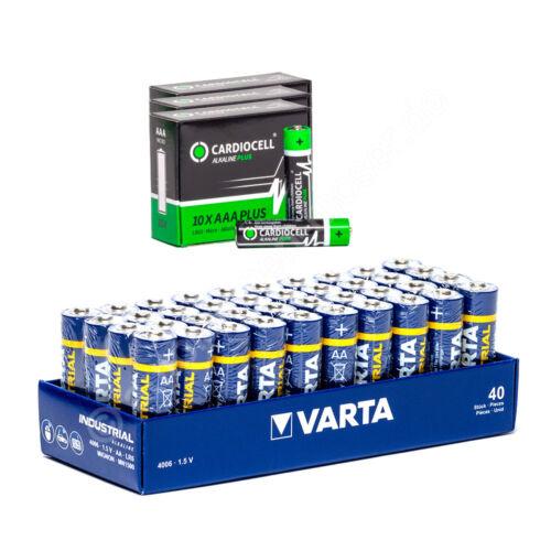 30x Micro AAA//LR3 Cardiocell 40x Mignon AA//LR6 VARTA 4006 1,5V 2960mAh