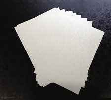 20 A4 PAPER DANDY WHITE APPLIQUE DESIGN 120GSM MATCHES OUR POCKETFOLDS CARDSTOCK