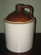 Antique Buckeye Pottery Co Stoneware Whiskey Jug Gallon Crock Macomb IL Vtg 1930