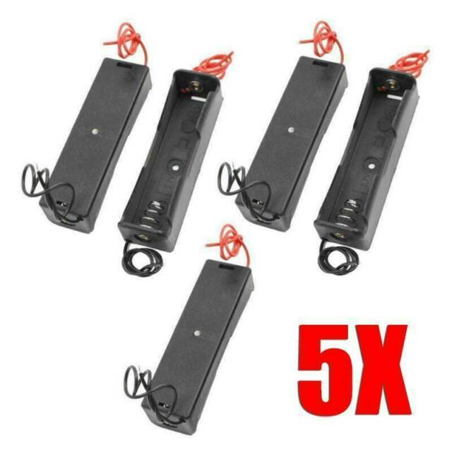 5Pcs Battery Holder Storage Case For 1Pc 3.7V 18650 Rechargeable Battery L7