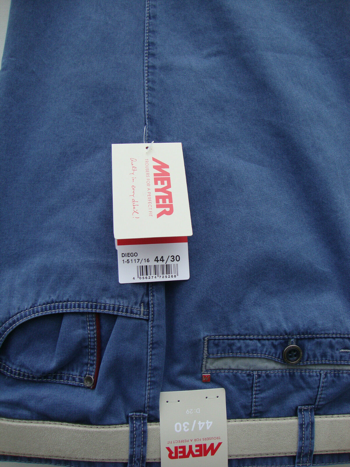 MEYER blueE DIEGO TROUSERS 42