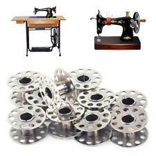 10pcs Metal Alloy Home Factory Sewing Machine Bobbins Spool Tool Parts Craft DIY