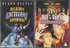 BILL AND TED'S EXCELLENT ADVENTURE & BOGUS JOURNEY Keanu Reeves Comedy DVD *EXC*