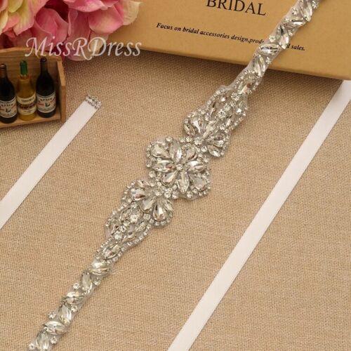 Loose Rhinestone Diamante Chain Trim Wedding Dress Belt Bridal Bead Applique