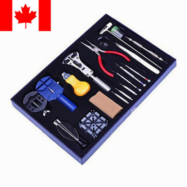 20pcs Wrist Watch Repair Tools Set Kits Pin&hand Remover Opener Link with case