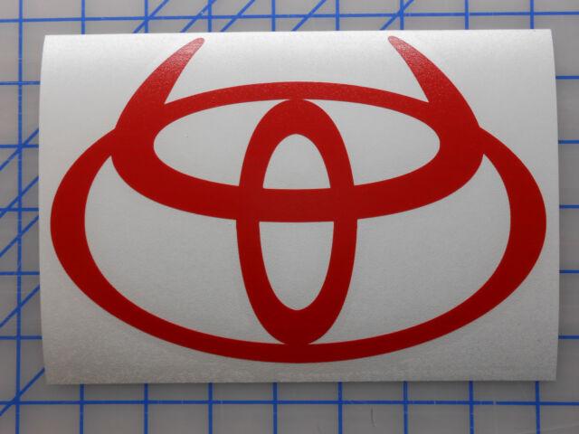 "HUGE Toyota Horns Emblem Sticker Decal 34""x23"" Off Road Tundra Tacoma FJ Lift"