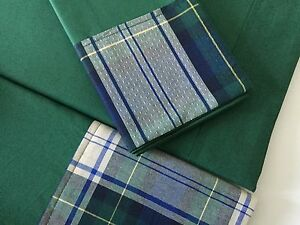 Deluxe Italian 100Egypt Cot Percale Single Bed Set Sheets Green Blue Checked - Billericay, United Kingdom - Deluxe Italian 100Egypt Cot Percale Single Bed Set Sheets Green Blue Checked - Billericay, United Kingdom