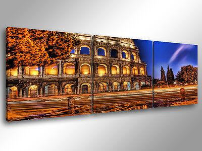 Quadri Moderni Stampa su Tela cm 100x70 Quadro Moderno Astratto colosseo roma 04