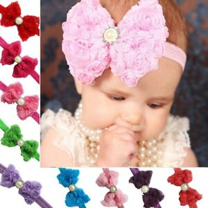 Toddler-Baby-Girl-Kids-Lace-Flower-Hair-Bow-Band-Headband-Headwear-Accessories