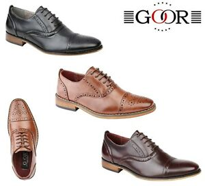 BOYS-SMART-Wedding-Lace-Up-Shoes-Brown-Oxblood-Black-Size-10-11-12-13-1-2-3-4-5