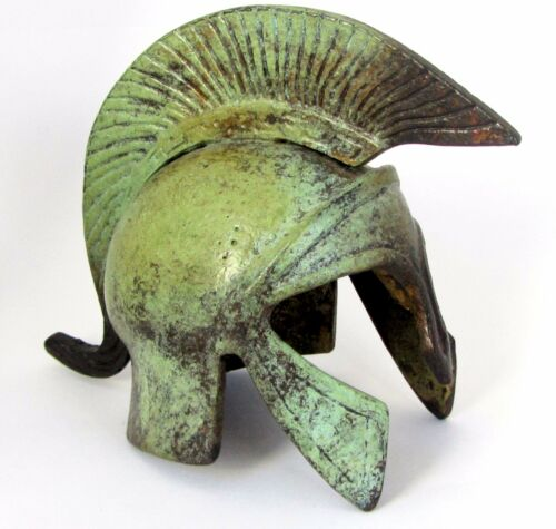 Ancient Greek Bronze Museum Replica of Trojan Helmet 1364