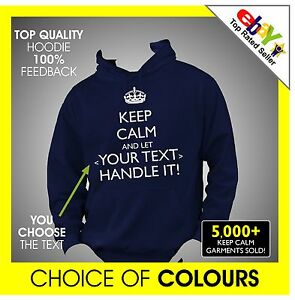 NEW UNISEX ADULT HOODY HOODIE PERSONALISED WITH YOUR NAME S to 2XL ANY TEXT
