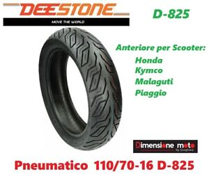 Reifen Deestone D825 120//70-10 TL 54L für Peugeot Vivacity Piaggio Zip Vespa LX