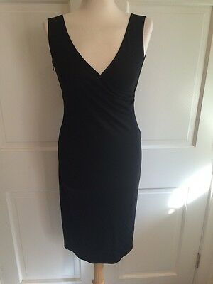 Stunning RICHARD TYLER COLLECTION Black Cocktail Dress Sz 40 US 6 MADE IN ITALY