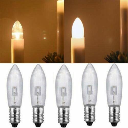 Glühlampe 3x Topkerze E10 ALLE Ausführungen klar geriffelt 3W E10 Warmweiß