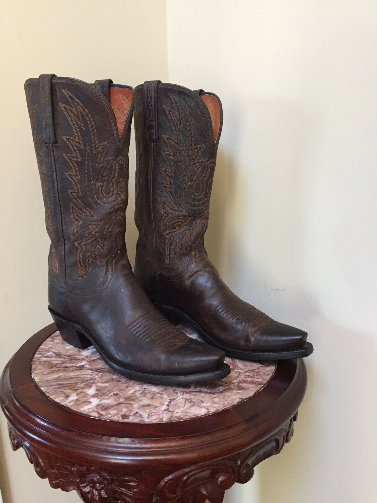 1883 by LUCCHESE Womens - N4554.4 Brown Mad Dog Goat Goat Goat Leather Boot Size 8.5 Med 725d35