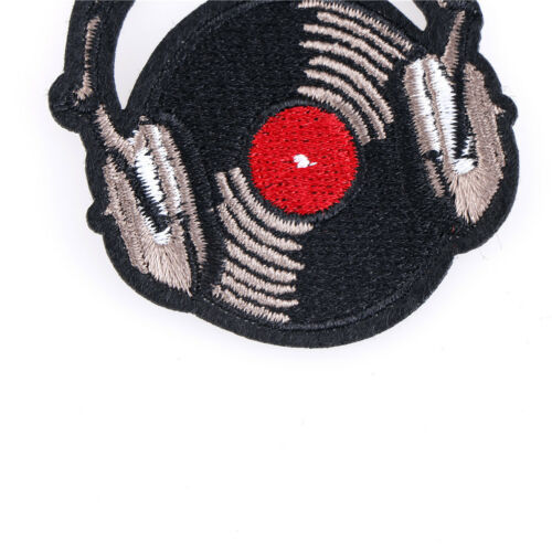 record music patch sew on embroidered appliques fabric patch for clothes sticker