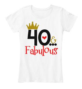 40-And-Fabulous-amp-Women-039-s-Premium-Tee-T-Shirt