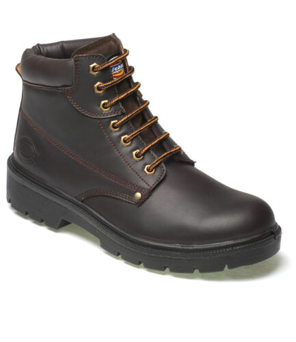 Dickies Antrim Safety Boots Work 6-12 Steel Toe Cap Size Mens FA23333 Leather UK