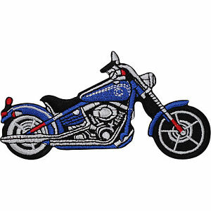 Blue-Chopper-Motorcycle-Embroidered-Iron-Sew-On-Patch-Motorbike-Jacket-Badge