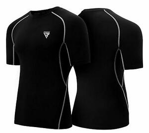 RDX-Rash-Guard-MMA-Compression-Base-Layer-Training-Sauna-Suit-Shirt-Vest-US