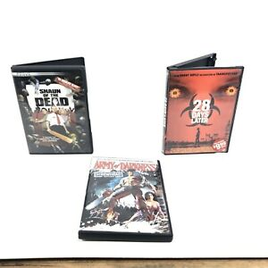 3-Lot-Zombie-DVD-28-Days-Later-Army-of-Darkness-Shaun-of-the-Dead-Comedy
