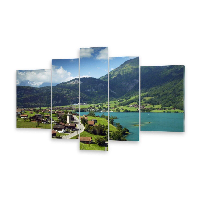 Mehrteilige Bilder Acrylglasbilder Wandbild Lungern, Schweiz