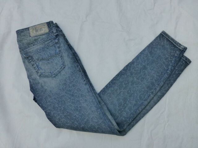6f370584 Diesel Jeans Sz26x32 Grupee Zip Super Slim SKINNY Stretch Wash O820v ...