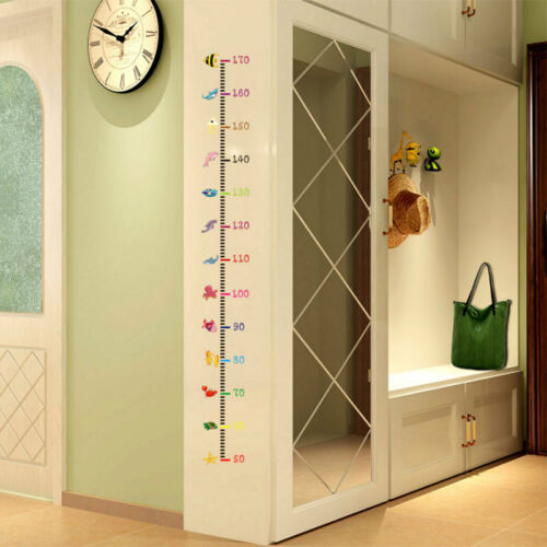 Fashion 3D Height Chart Measure Wall Sticker Decal for Kids Baby Room Undersea