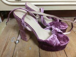 03892b456f13 Heels Purple Desire Public 5 Asos Size Crushed Platform Velvet 0gqSqwOU
