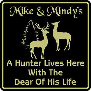 New-Personalized-Custom-Name-Hunter-Hunting-Home-Cabin-Wall-Decor-Plaque-Sign-2