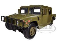 Humvee Military Cargo/troop Carrier Green 1/24 Diecast Model By Motormax 73294
