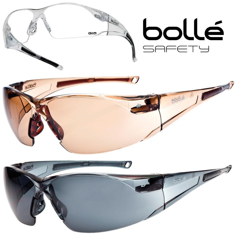 Lunettes de protection Bollé Safety RUSH verre incolore/HD/twilight/fumé glasses