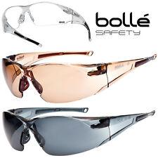 Lunettes de protection Bollé Safety RUSH verre incolore HD twilight fumé  glasses b619187d26bb